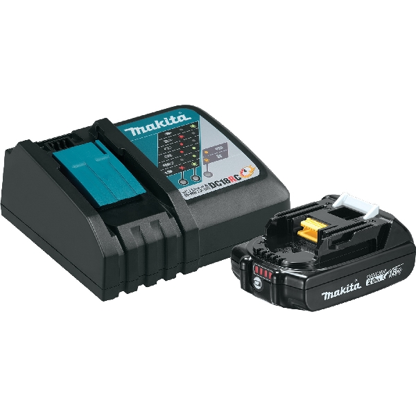 Picture of Makita BL1820BDC1 Battery and Charger Starter Pack, 18 V Output, 2 Ah, Battery Included: No