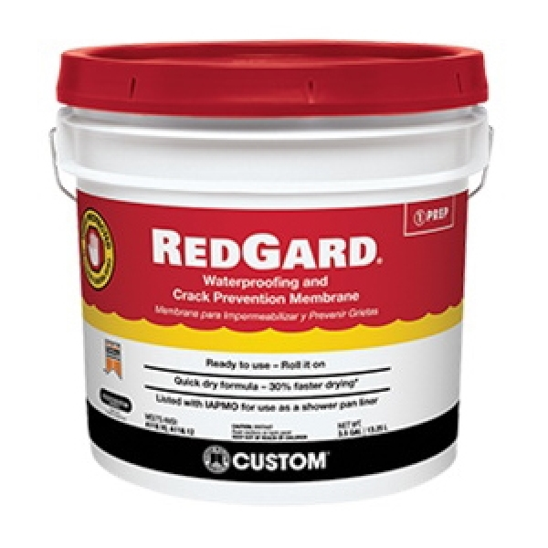 Picture of CUSTOM REDGARD LQWAF3 Waterproofing and Crack Prevention, Liquid, Red, 3.5 gal, Pail