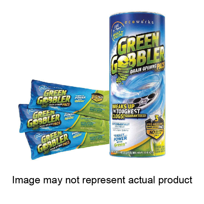 Picture of Green Gobbler GGDC3SEMR Drain Opening Pacs, Powder, Off-White, 8.25 oz Package, Pack