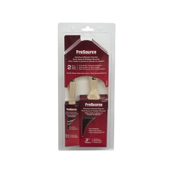 Picture of ProSource OR A 11602 S Paint Brush Set, Angular, Flat, 3, 1.5 in Brush, 2-Brush
