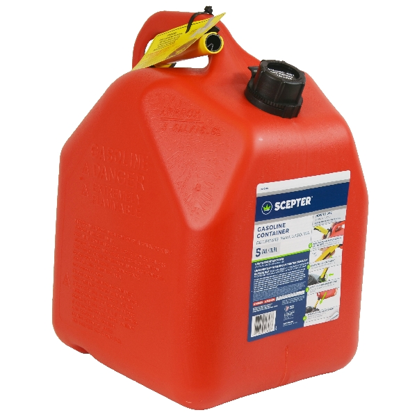Picture of Scepter Flo n' go FG4G511 Gas Can, 5 gal Capacity, Polypropylene, Red