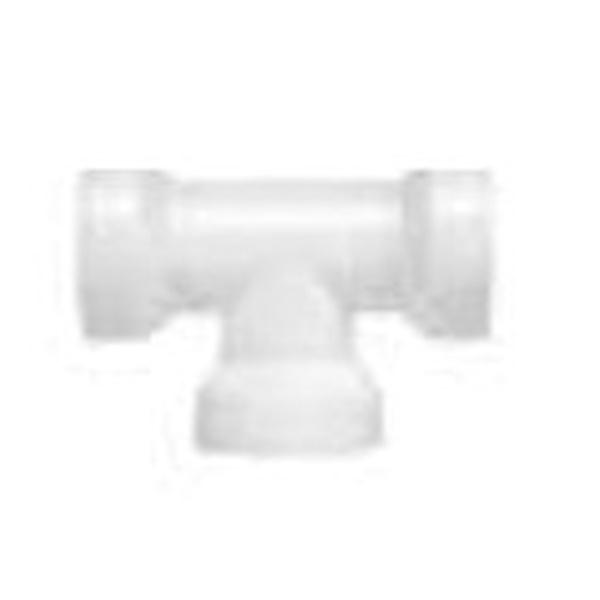 Picture of Plumb Pak Insta-Plumb 48QLK Coupling Tee, 1-1/2 in, Push, Plastic, White