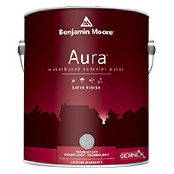 Picture of Benjamin Moore Aura 06312X-004 Exterior Paint, Satin, 1 qt Package
