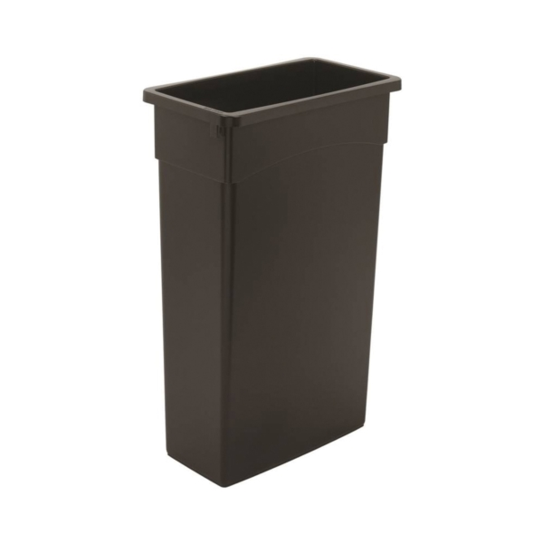 Picture of CONTINENTAL COMMERCIAL 8322BK Trash Receptacle, 23 gal Capacity, Plastic, Black