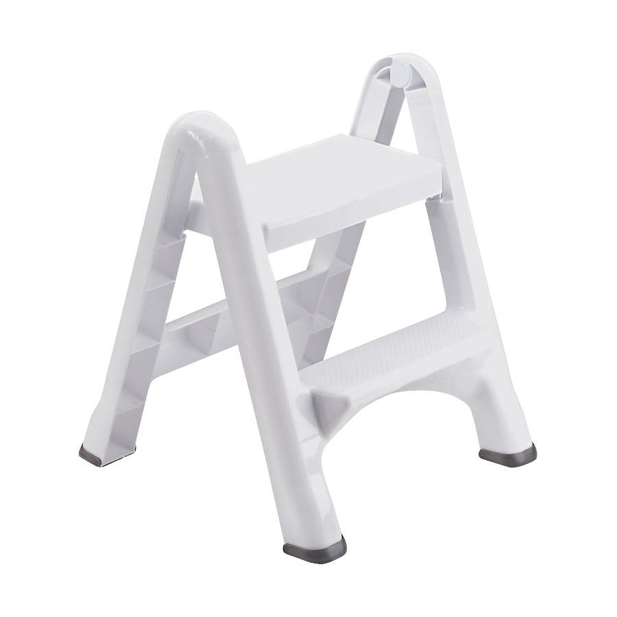 Picture of Rubbermaid EZ Step FG420903WHITE Folding Step Stool, 25 in H, White