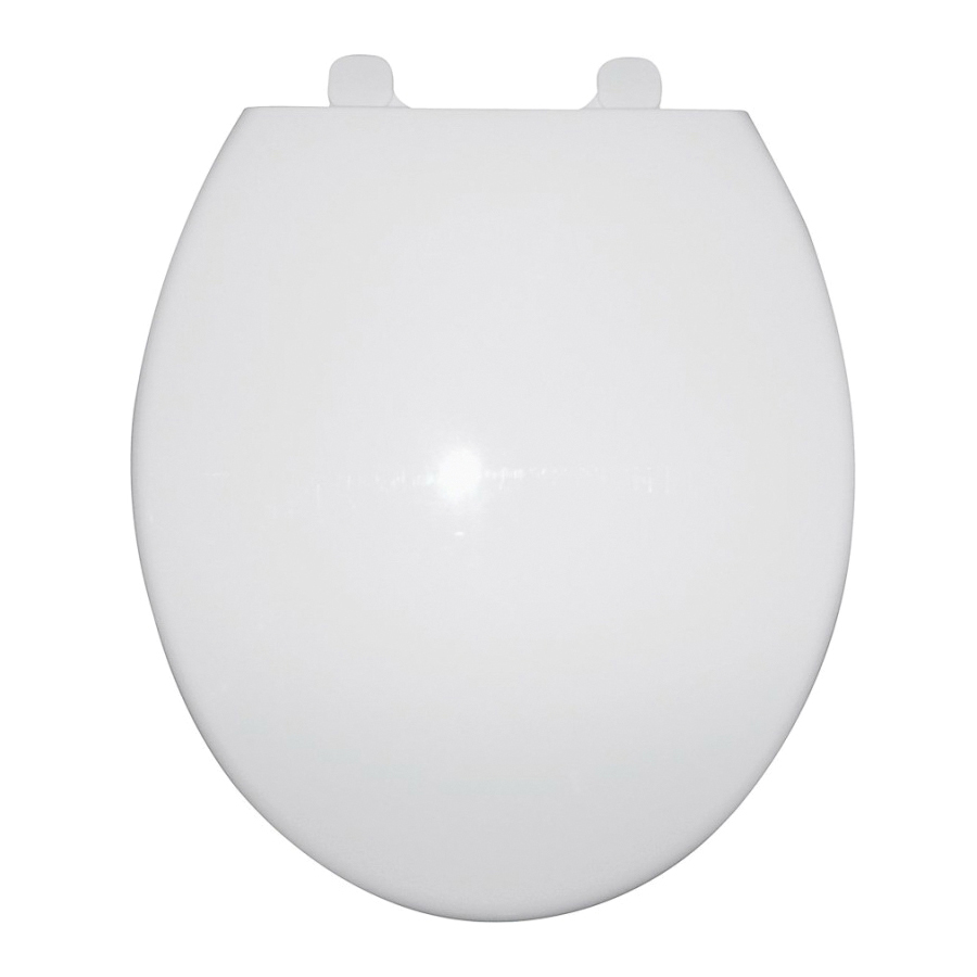 Picture of ProSource Q-328-WH Toilet Seat, Round, Polypropylene, White, Close Hinge