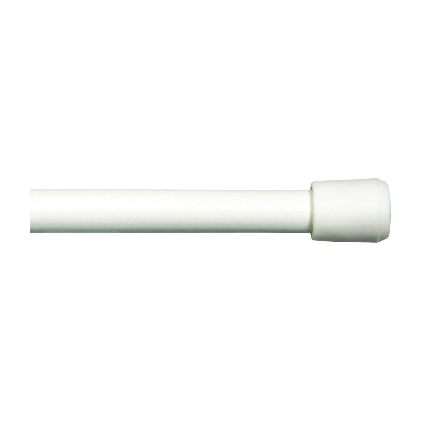 Picture of Kenney KN631/1 Spring Tension Rod, 7/16 in Dia, 28 to 48 in L, Metal, White