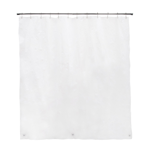 Picture of Kenney KN61440 Shower Liner, 72 in L, 70 in W, PEVA, White
