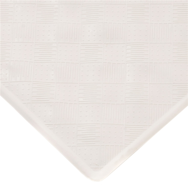 Picture of Kenney KN61280 Bath Mat, 27-1/2 in L, 15-1/2 in W, Rubber, Off-White