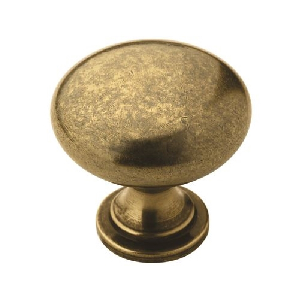 Picture of Amerock Allison Value BP53005BB Cabinet Knob, 1-1/8 in Projection, Zinc, Burnished Brass