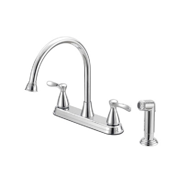Picture of Boston Harbor F8210001CP Kitchen Faucet, 1.75 gpm, 4-Faucet Hole, Chrome, Lever Handle