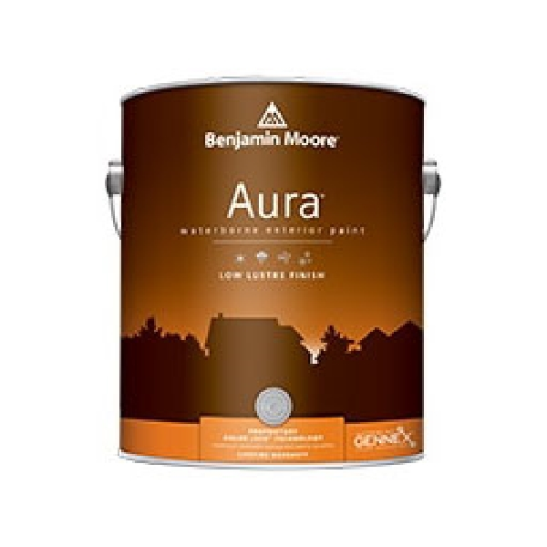 Picture of Benjamin Moore Aura 063401-001 Exterior Paint, Low-Luster, White, 1 gal Package