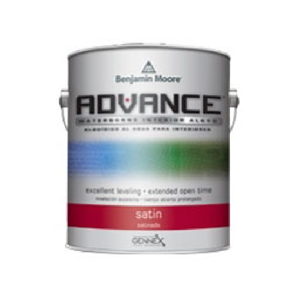 Picture of Benjamin Moore ADVANCE 079201-001 Interior Paint, Satin, White, 1 gal Package