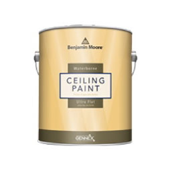 Picture of Benjamin Moore 050809-001 Ceiling Paint, Ultra Flat, White, 1 gal Package