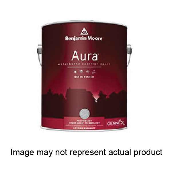 Picture of Benjamin Moore Aura 063101-001 Exterior Paint, Satin, White, 1 gal Package
