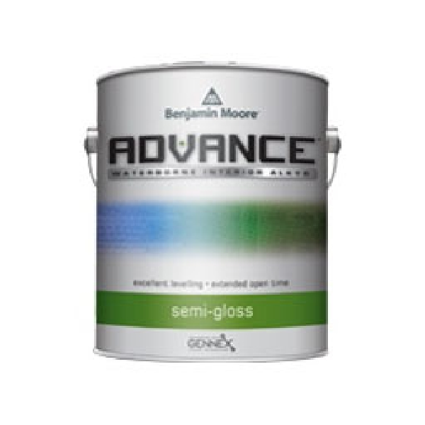 Picture of Benjamin Moore ADVANCE 079301-001 Interior Paint, Semi-Gloss, White, 1 gal Package