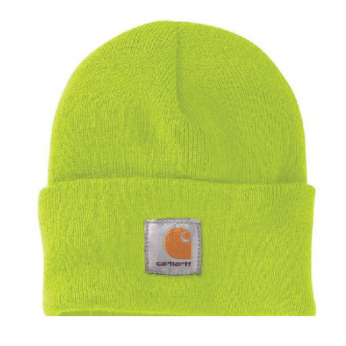 Picture of Carhartt A18-BLM Watch Hat, Beanie, Men's, One-Size, Acrylic, Brite Lime