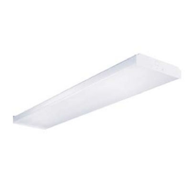 Picture of Eaton Lighting WS432R Wrap Fixture, 120 V, 128 W, 4-Lamp, T8 Bulb, Acrylic Fixture, White Fixture