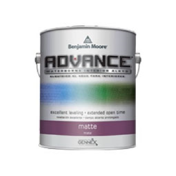 Picture of Benjamin Moore ADVANCE 07911X-001 Interior Paint, Matte, Pastel Base, 1 gal Package