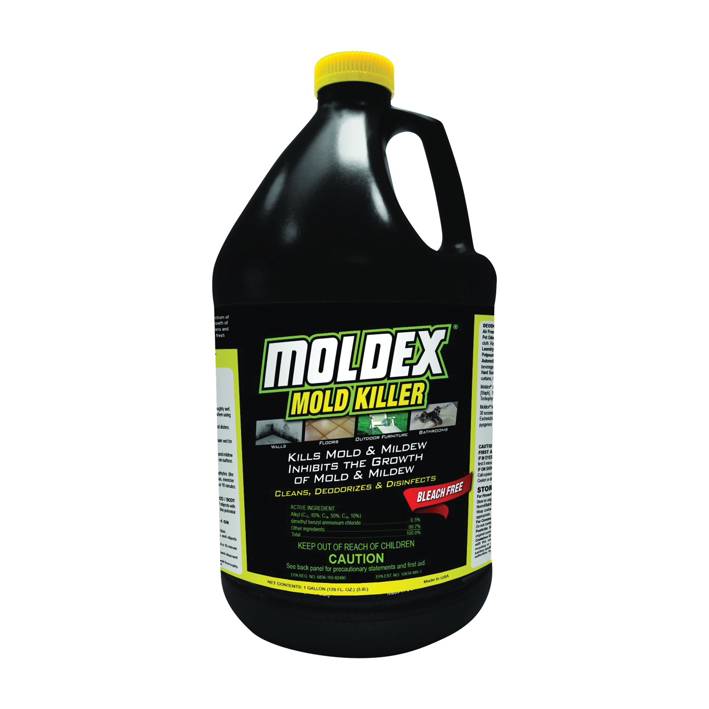 Picture of MOLDEX 5520 Mold and Mildew Killer, 1 gal Package, Bottle, Liquid, Floral, Clear