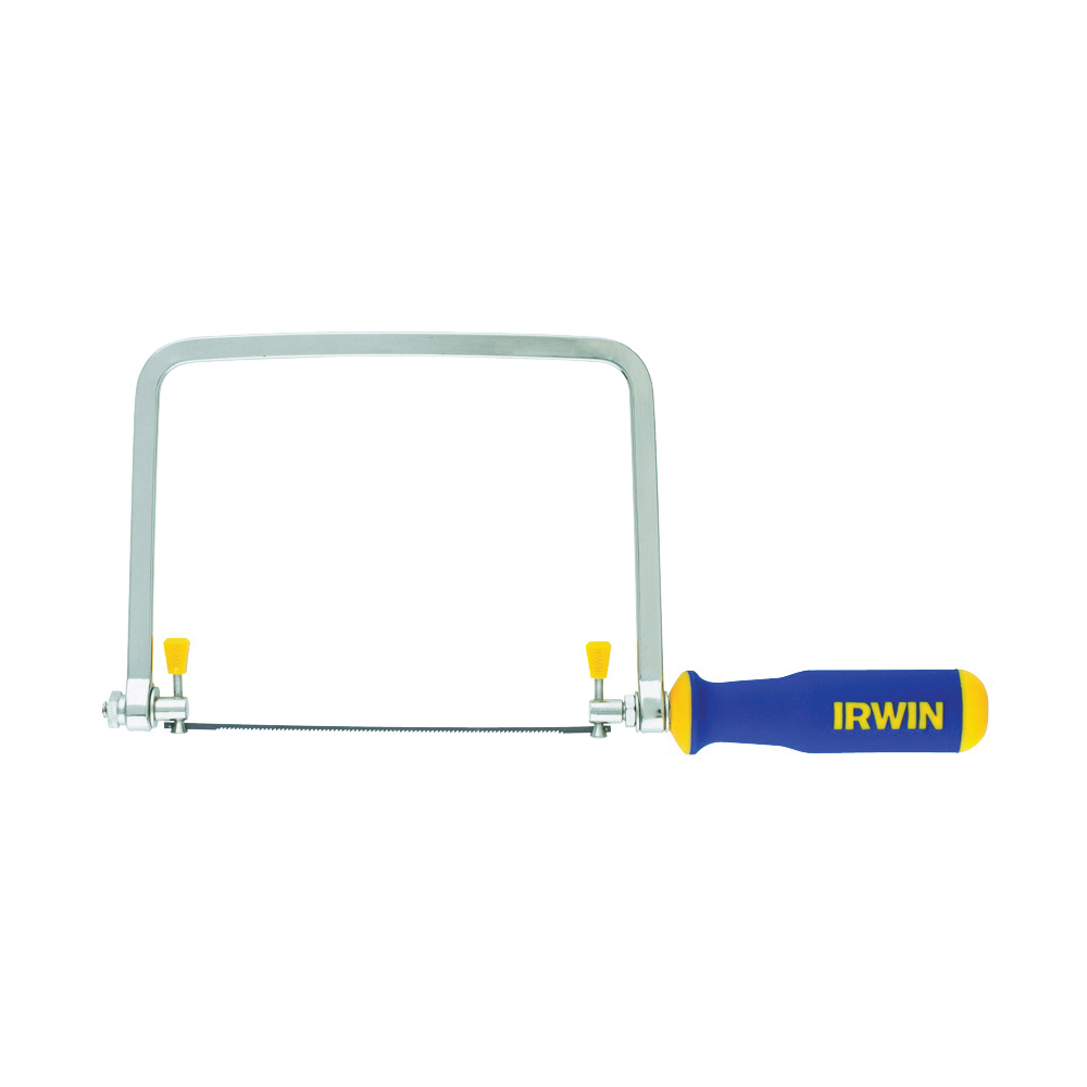 Picture of IRWIN ProTouch 2014400 Coping Saw, 6-1/2 in L Blade, 17 TPI, Steel Blade, Ergonomic Handle