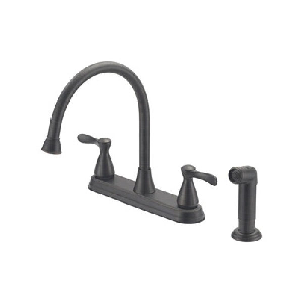 Picture of Boston Harbor F8210001RW Kitchen Faucet, 1.75 gpm, 4-Faucet Hole, Venetian Bronze, Lever Handle