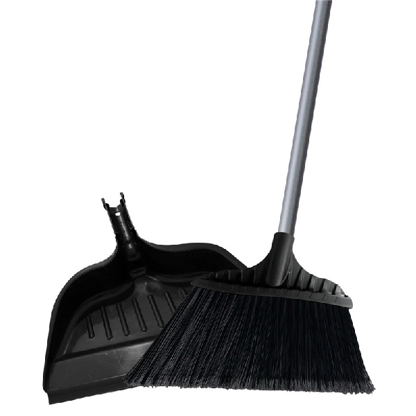 Picture of Simple Spaces 2132X Angle Broom with Dust Pan, 15 in L