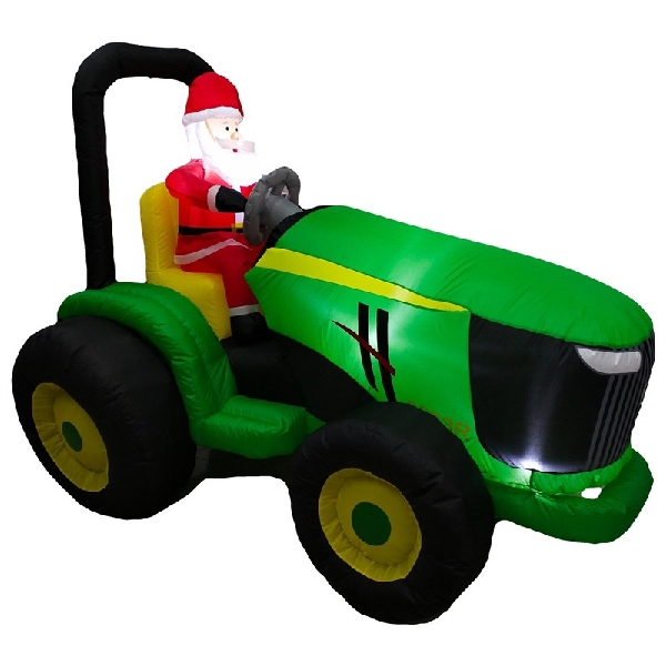 Picture of Santas Forest 90411 Tractor, Green/Yellow