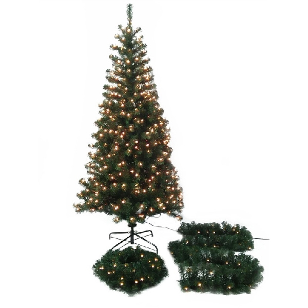Picture of Santas Forest 27403 Tree/Wreath Garland, Assorted