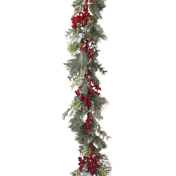 Picture of Worldwide Sourcing 2492720 Garland with Berry and Bells, 5 ft L, Pine