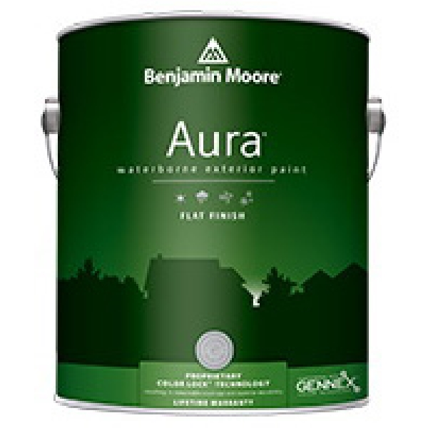 Picture of Benjamin Moore Aura 06293X-004 Exterior Paint, Flat, 1 qt Package