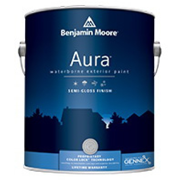 Picture of Benjamin Moore Aura 063201-004 Exterior Paint, Semi-Gloss, White, 1 qt Package
