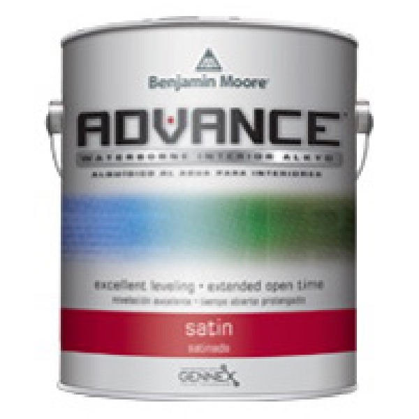 Picture of Benjamin Moore Advance 079201-004 Interior Paint, Satin, White, 1 qt Package