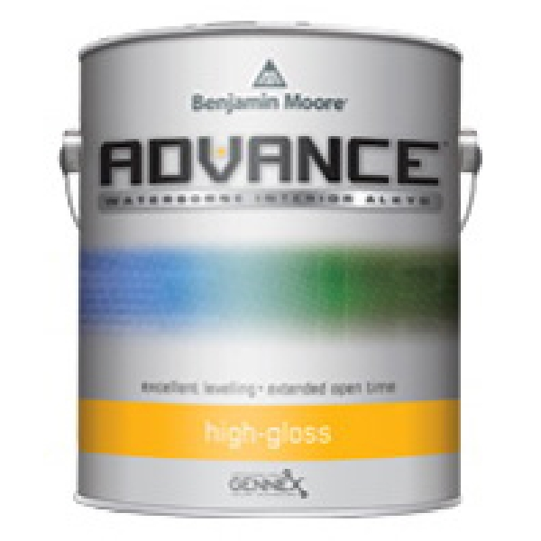 Picture of Benjamin Moore Advance N7943X-001 Interior/Exterior Paint, High-Gloss, 1 gal Package