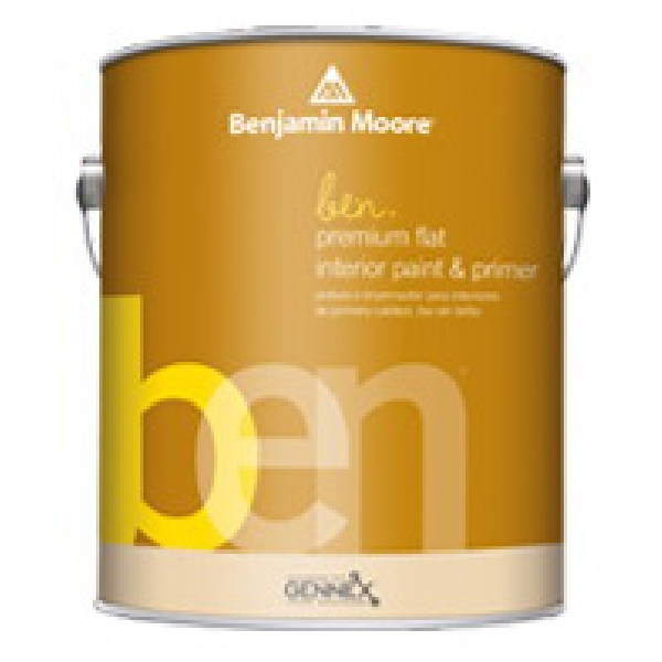 Picture of Benjamin Moore 625 W6251X-001 Interior Paint, Flat, 1 gal Package