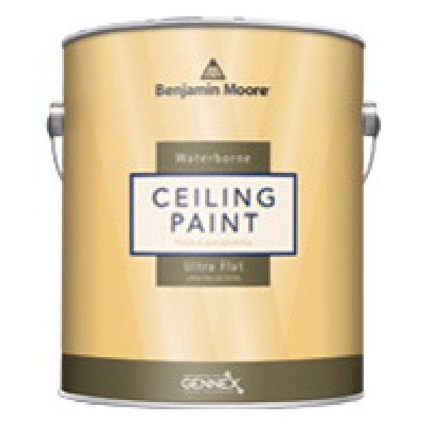 Picture of Benjamin Moore 05081X-004 Ceiling Paint, Ultra Flat, 1 qt Package