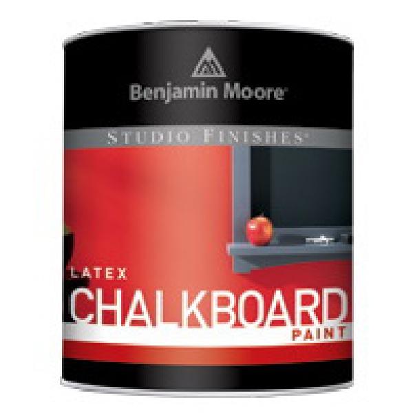 Picture of Benjamin Moore 30780-004 Chalkboard Paint, Black, 1 qt