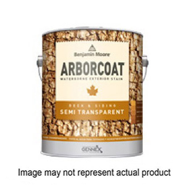 Picture of Benjamin Moore Arborcoat N63806-001 Exterior Stain, Flat, Clear, Liquid, 1 gal