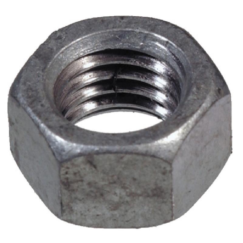 Picture of HILLMAN 660833 Hex Nut, Coarse Thread, Steel, Galvanized, 2 Grade