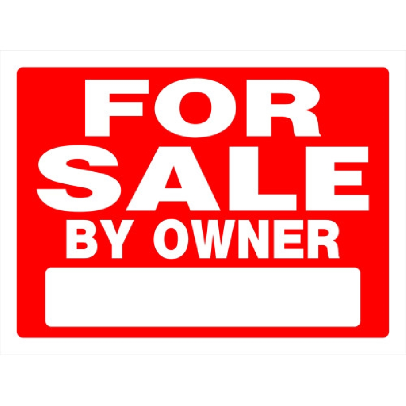 Picture of HILLMAN 840241 Sign, FOR SALE BY OWNER, White Legend, Red Background, Plastic, 24 in W x 18 in H Dimensions