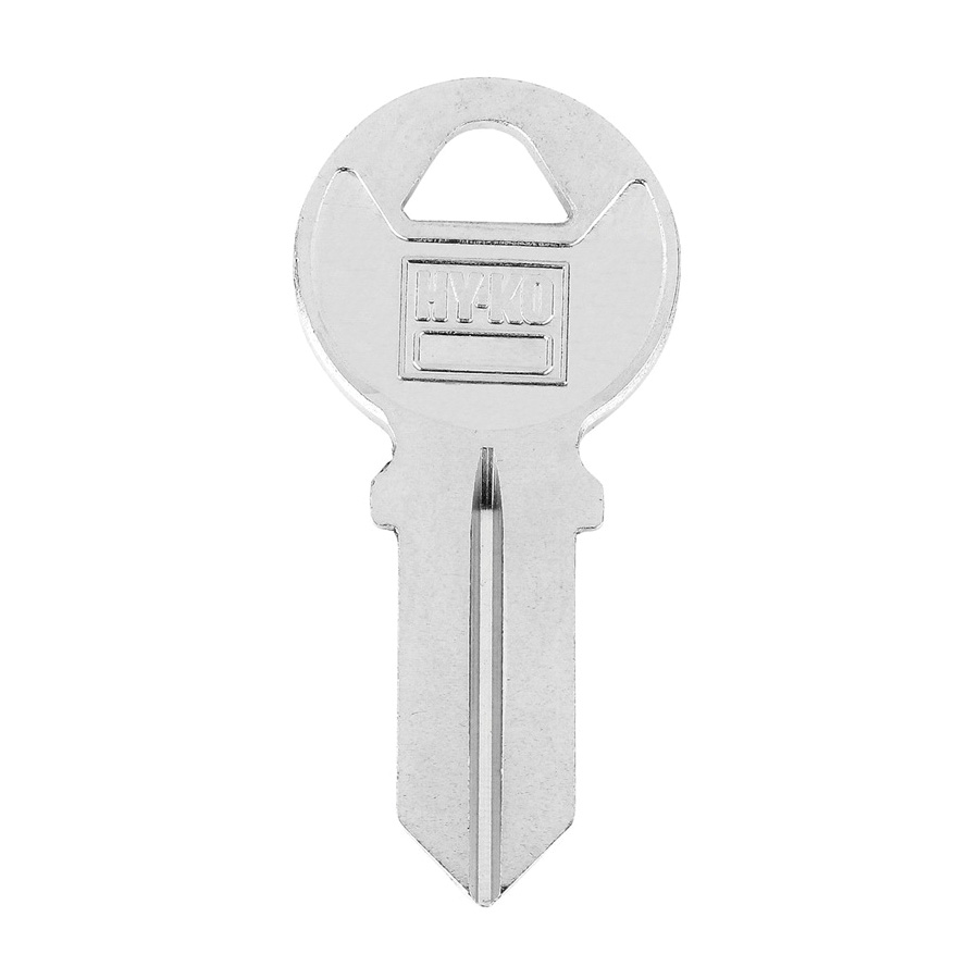 Picture of HY-KO 11010AM4 Key Blank, Brass, Nickel-Plated, For: American AM4 Locks