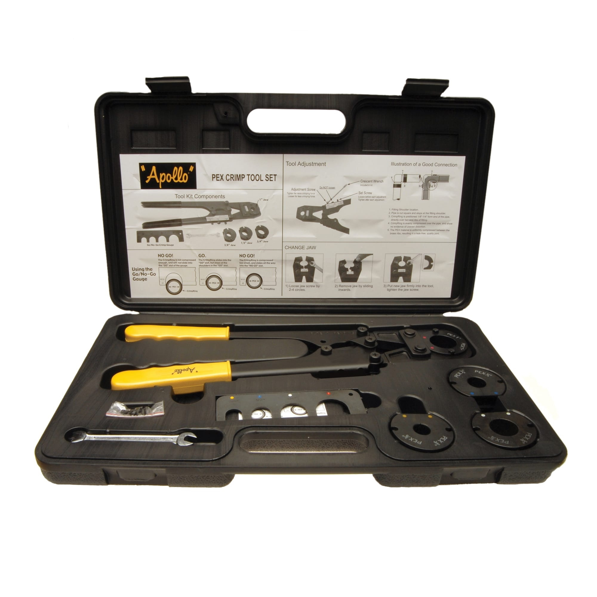Picture of Apollo 69PTKH0015K Multi-Head Crimp Tool Kit, 3/8 to 1 in Crimping
