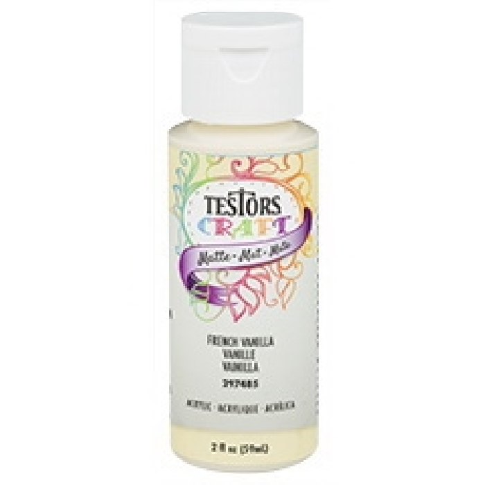 Picture of TESTORS 297485 Craft Paint, Matte, French Vanilla, 2 oz, Bottle