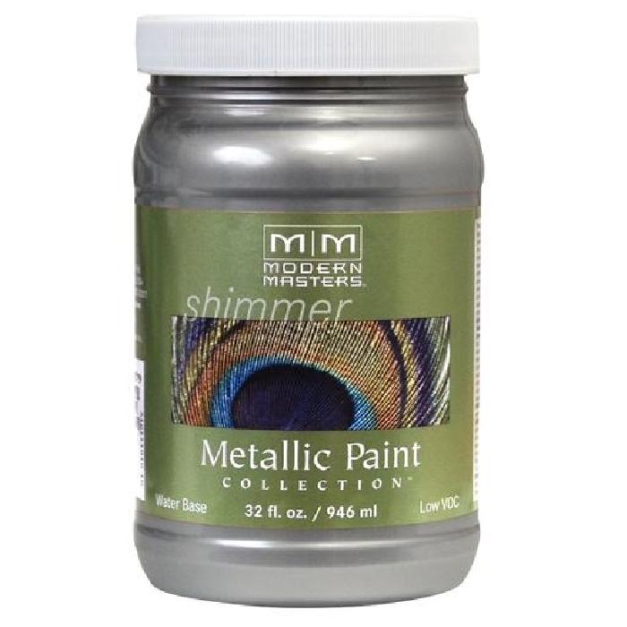 Picture of MODERN MASTERS ME59132 Metallic Paint, Metallic, Platinum, 1 qt, Container