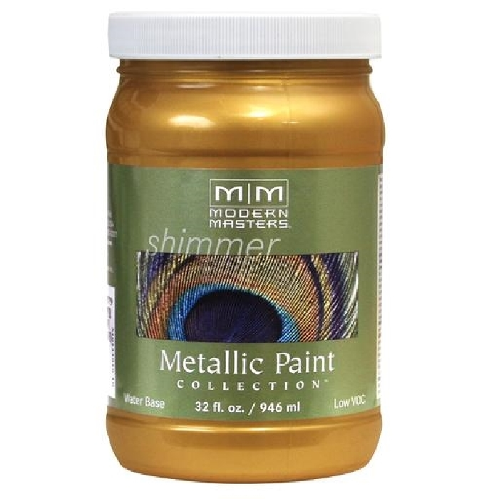 Picture of MODERN MASTERS ME65932 Metallic Paint, Metallic, Olympic Gold, 1 qt, Container