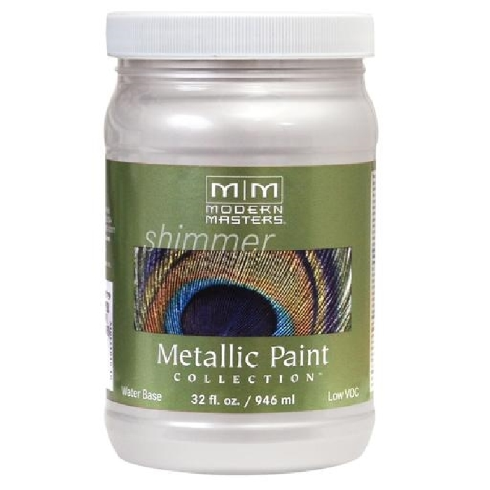 Picture of MODERN MASTERS ME70532 Metallic Paint, Metallic, Oyster, 1 qt, Container