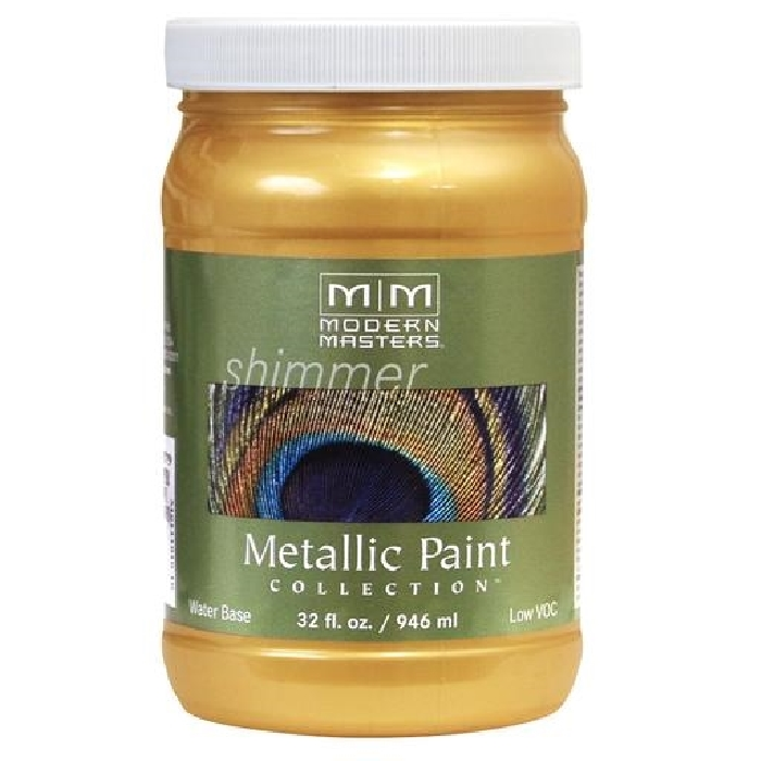 Picture of MODERN MASTERS ME65832 Metallic Paint, Metallic, Gold Rush, 1 qt, Container