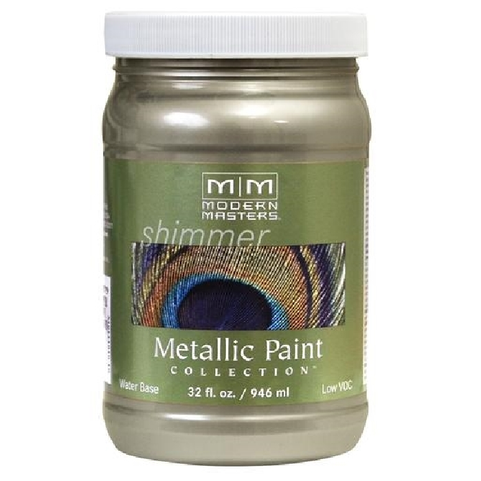 Picture of MODERN MASTERS ME20632 Metallic Paint, Metallic, Champagne, 1 qt, Container