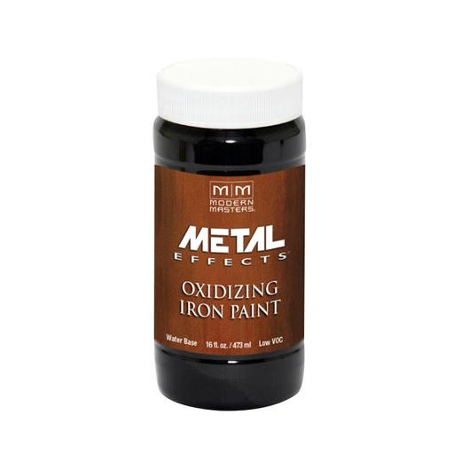 Picture of MODERN MASTERS Metal Effects ME20816 Metallic Paint, Rusted Metallic, Iron, 1 pt, Container