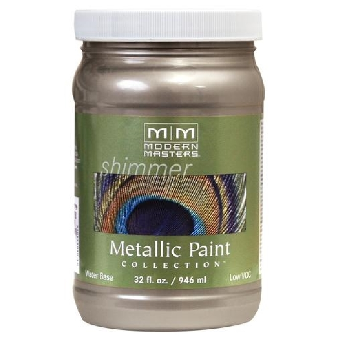 Picture of MODERN MASTERS ME22132 Metallic Paint, Metallic, Warm Silver, 1 qt, Container